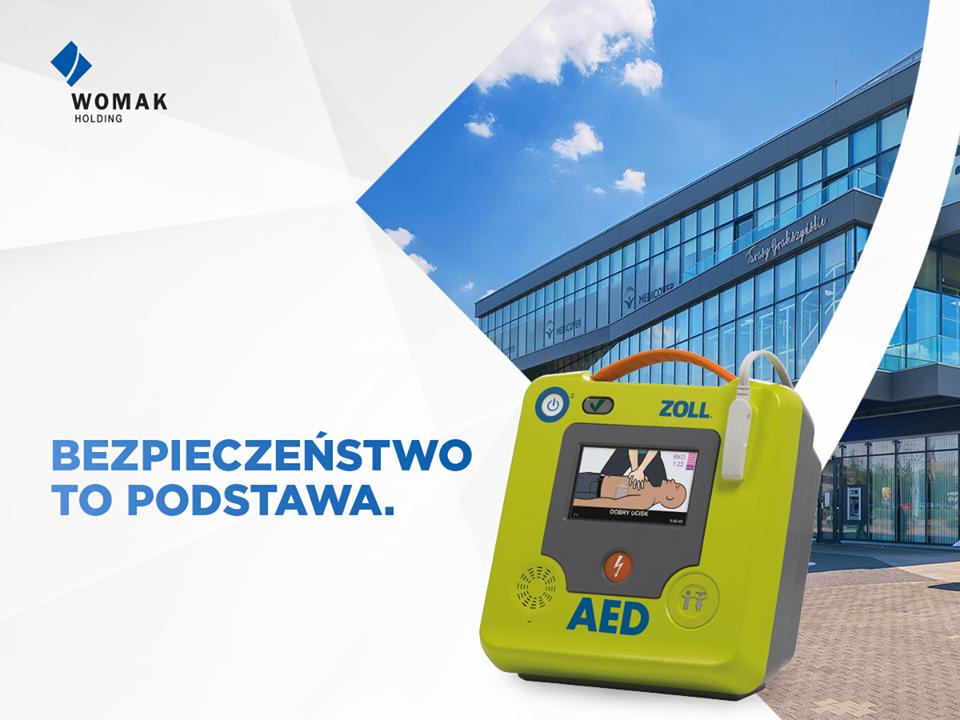 Defibrylator AED w Tarasach Grabiszyńskich